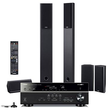 Yamaha HTR-4065 Noir + NS-PA120 Ampli-tuner Home Cinéma 5.1 DLNA 3D-Ready avec HDMI 1.4 et Décodeurs HD Airplay + Pack d'enceintes 5.0