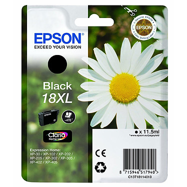 Epson T1811 Cartucho de tinta negra