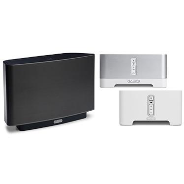 Sonos CONNECT AMP + CONNECT + PLAY 5 NOIR Solutions pour diffusion audio sans fil
