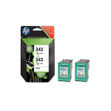 HP 343 - CB332EE Pack de 2 cartouches d'encre couleur