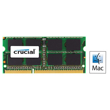 Crucial for Mac SO-DIMM 4 Go DDR3 1333 MHz CL9 · Occasion RAM SO-DIMM DDR3 PC10600 - CT4G3S1339MCEU - Article utilisé, garantie 6 mois