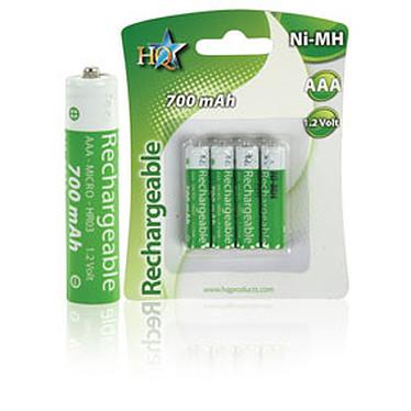 Piles rechargeables LR03 - AAA - 700 Mah - 1.2V (par 4)