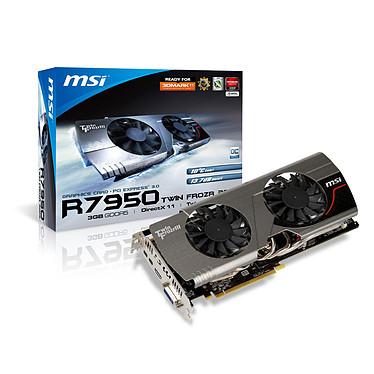 MSI R7950 Twin Frozr 3GD5/OC BE 3 Go 3 Go HDMI/DVI/Dual Mini-DisplayPort - PCI Express (AMD Radeon HD 7950)