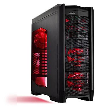 Helios Prophecy Rouge Boîtier gamer Moyen Tour avec fenêtre