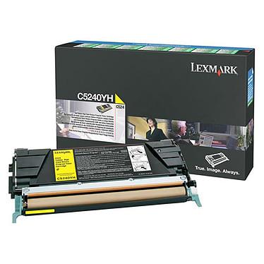 Lexmark 00C5240YH Toner Jaune (5 000 pages à 5%)