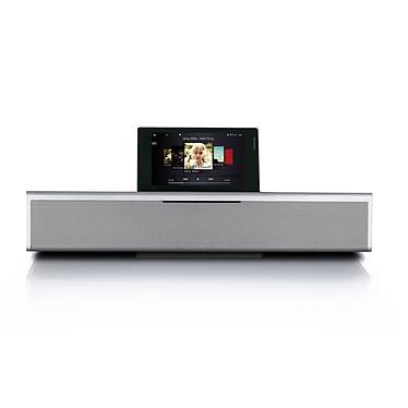 LOEWE SoundVision Argent Système audio 2.1 DLNA avec station d'accueil iPod/iPhone