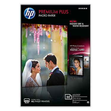 HP CR695A Papier Photo Premium Plus à finition brillante 10 x 15 cm - 50 feuilles