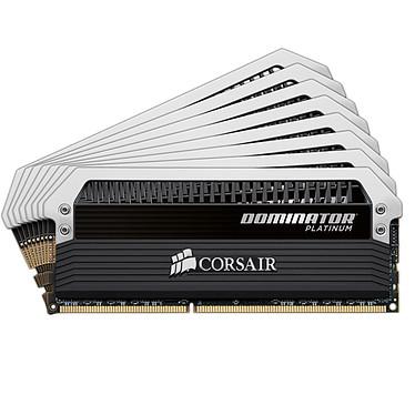 Corsair Dominator Platinum 64 Go (8 x 8 Go) DDR3 2400 MHz CL11 Kit Quad Channel RAM DDR3 PC3-19200 - CMD64GX3M8A2400C11 (garantie à vie par Corsair)