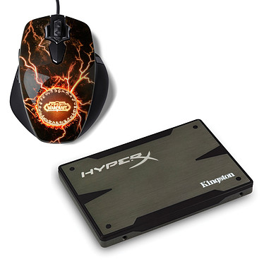 Kingston HyperX 3K SSD Series 240 Go + SteelSeries World of Warcraft MMO Gaming Mouse