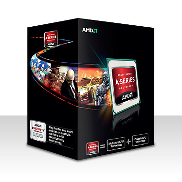 AMD A6-5400K (3.6 GHz) Black Edition Processeur Dual Core socket FM2 Cache L2 1 Mo Radeon HD 7540D 0.032 micron (version boîte - garantie constructeur 3 ans)