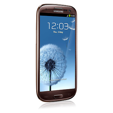 "Samsung Galaxy SIII 4G GT-i9305 Amber Brown 16 Go Smartphone 4G-LTE avec écran tactile HD Super AMOLED 4.8"" sous Android 4.1"