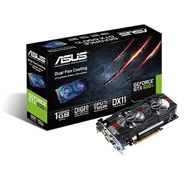 ASUS GeForce GTX650TI-1GD5 1024 Mo Dual DVI/HDMI - PCI Express (NVIDIA GeForce avec CUDA GTX 650 Ti)