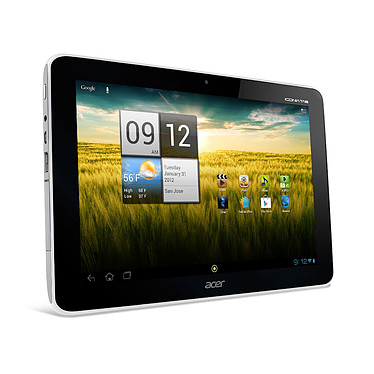 """Acer Iconia Tab A210 (Blanche) Tablette Internet NVIDIA Tegra 3 1 Go SSD 16 Go 10.1"""" LCD Wi-Fi N/Bluetooth Webcam Android 4.1*"""