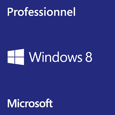 Microsoft Windows 8 Professionnel 64 bits - OEM (DVD) Microsoft Windows 8 Pro 64 bits (français) - Licence OEM