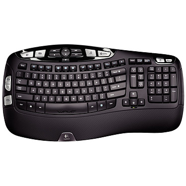 Logitech Wireless Keyboard K350 version OEM Clavier sans fil - repose-poignets matelassé - disposition ondulée des touches (AZERTY, Français)