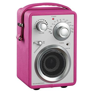 Scansonic PA680 Rose Radio FM/AM portable