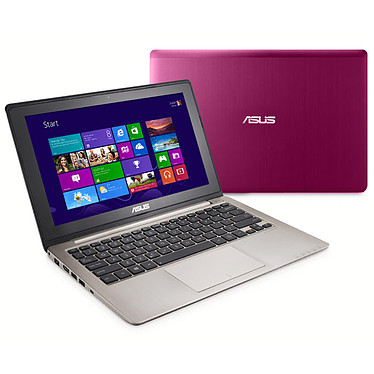 "ASUS VivoBook X202E-CT008H Rose Intel Core i3-3217U 4 Go 500 Go 11.6"" LED Tactile Wi-Fi N/BT Webcam Windows 8 64 bits"