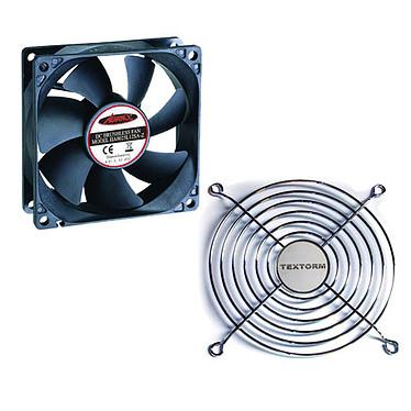 Advance V-A120 + Grille de ventilateur 120mm Ventilateur silencieux 120mm + Grille de ventilateur 120mm