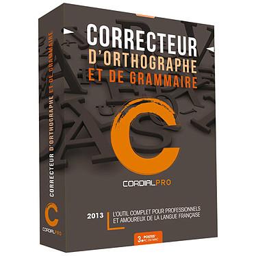 Synapse Cordial 2013 Pro Correcteur d'orthographe et de grammaire (français, WINDOWS et MAC OS X)