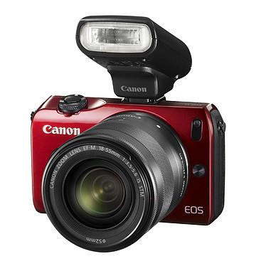 """Canon EOS M Rouge + Objectif EF-M 18-55 mm f/3,5-5,6 IS STM + Speedlite 90EX Reflex Numérique 18 MP - Ecran tactile 3"""" - Vidéo Full HD + Objectif EF-M 18-55 mm f/3,5-5,6 IS STM + Flash"""