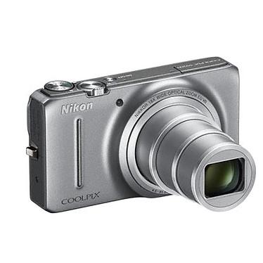 Acheter Nikon Coolpix S9200 Argent  + Etui + Nikon SD 4 Go