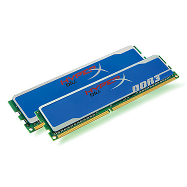 Kingston HyperX Blu 4 Go (2x 2Go) DDR3 1600 MHz Kingston HyperX Blu 4 Go (kit 2x 2 Go) DDR3-SDRAM PC12800 CL9 - KHX1600C9D3B1K2/4GX (garantie 10 ans par Kingston)