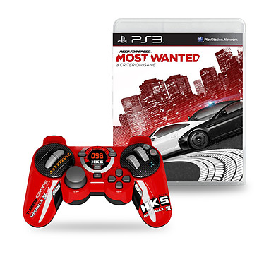 Steelplay Manette Hks Racing Filaire + Need for Speed Most Wanted (PS3)