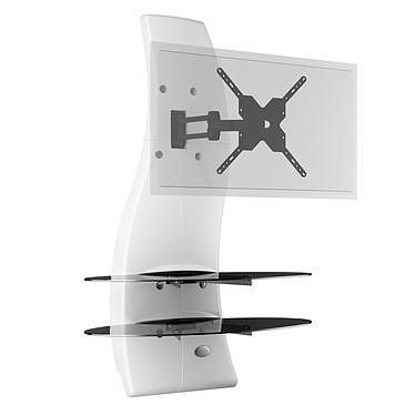 """Meliconi Ghost Design 2000 Rotation Blanc Meuble mural pour écran plat de 32 à 63"""" avec support rotatif et orientable"""