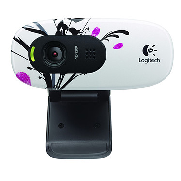 Logitech HD Webcam C270 (Fingerprint Flowers)