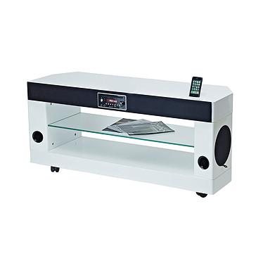 SoundVision SV-300 W Meuble Home Cinéma 2.1 avec Station d'accueil iPod/iPhone