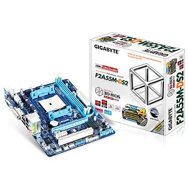 Gigabyte GA-F2A55M-DS2 Carte mère Micro-ATX Socket FM2 AMD A55 (Hudson D2) - SATA 3Gb/s - USB 2.0 - 1x PCI Express 2.0 16x