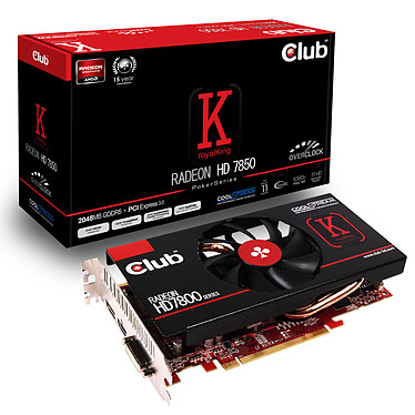 Club 3D Radeon HD 7850 royalKing 2 Go 2048 Mo HDMI/DVI/DisplayPort - PCI Express (AMD Radeon HD 7850)