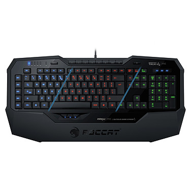 ROCCAT Isku FX (noir) Clavier pour gamer avec système de rétro-éclairage personnalisable (AZERTY, Français)