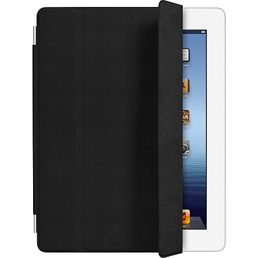 Apple iPad Smart Cover Cuir Noir (MD301ZM/A) Protection d'écran en cuir pour iPad 2 / Nouvel iPad