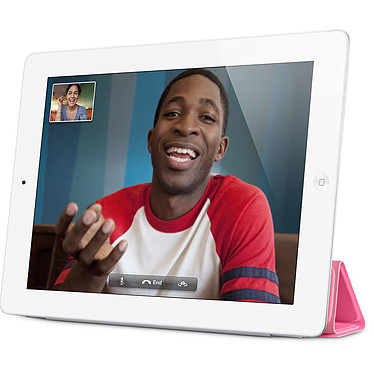 Apple iPad Smart Cover Polyuréthane Rose pas cher