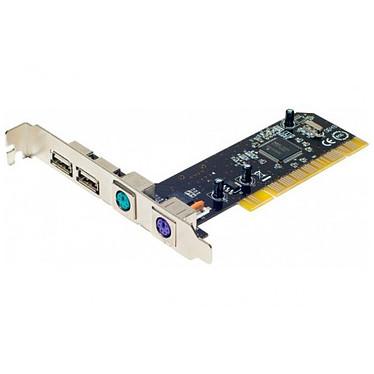 Carte contrôleur PCI avec 2 ports USB 2.0 et 2 ports PS/2 Carte contrôleur PCI avec 2 ports USB 2.0 et 2 ports PS/2