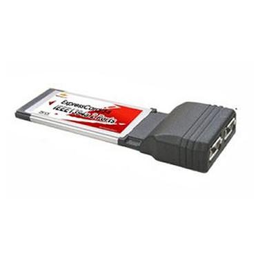 Carte contrôleur ExpressCard avec 2 ports FireWire 400 Carte contrôleur ExpressCard avec 2 ports FireWire 400