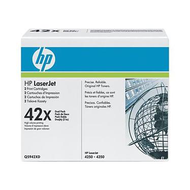 HP Q5942XD Toner noir (20 000 pages à 5 %) - Pack de 2