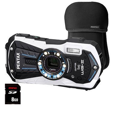 Pentax Optio WG2-GPS Blanc + Etui néoprène Noir + SDHC 8 Go