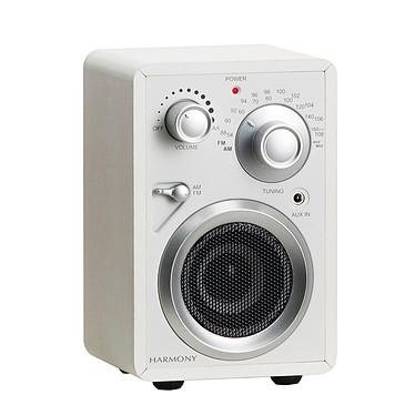 Scansonic PR100 Blanc Radio FM/AM portable