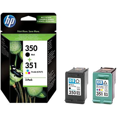 HP Combo Pack 350/351 SD412EE Pack de 2 cartouches d'encre 350/351 noire et couleur