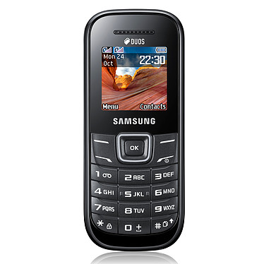 Samsung E1202 Duos Noir Téléphone Dual SIM