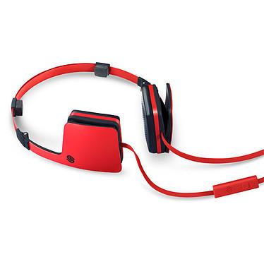 Urbanista Copenhagen Red Snapper Casque en acier avec micro intégré pour smartphone et baladeur