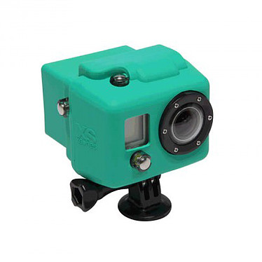 XSories Hooded Silicone Cover Vert Pomme Protection en silicone pour caméra GoPro HD