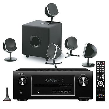 Denon AVR-2113 Noir + Focal Little Bird Pack 5.1 Noir Ampli-tuner Home Cinéma 7.1 DLNA 3D Ready avec HDMI et Décodeurs HD Airplay + Enceintes 5.1