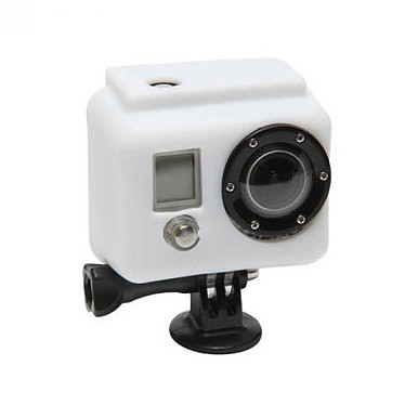 XSories Silicone Cover Blanc Protection en silicone pour caméra GoPro HD