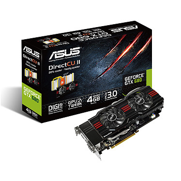 ASUS GTX680-DC2-4GD5 4 Go 4096 Mo Dual DVI/HDMI/DisplayPort - PCI Express (NVIDIA GeForce avec CUDA GTX 680)