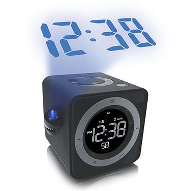 La Crosse Technology WT480 Noir Radio réveil avec projection de l'heure