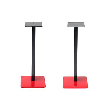 NorStone Esse Stand Rouge/Noir (par paire) Pack de 2 pieds pour enceintes bibliothèques