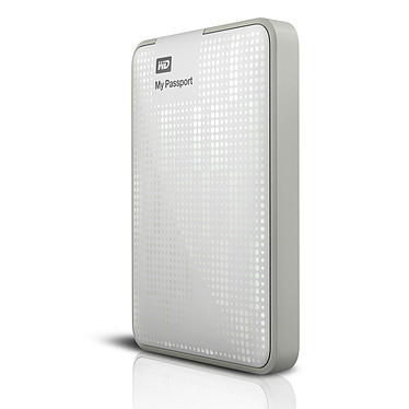 Western Digital My Passport 500 Go Blanc + My Passport Carrying Case (USB 3.0) pas cher
